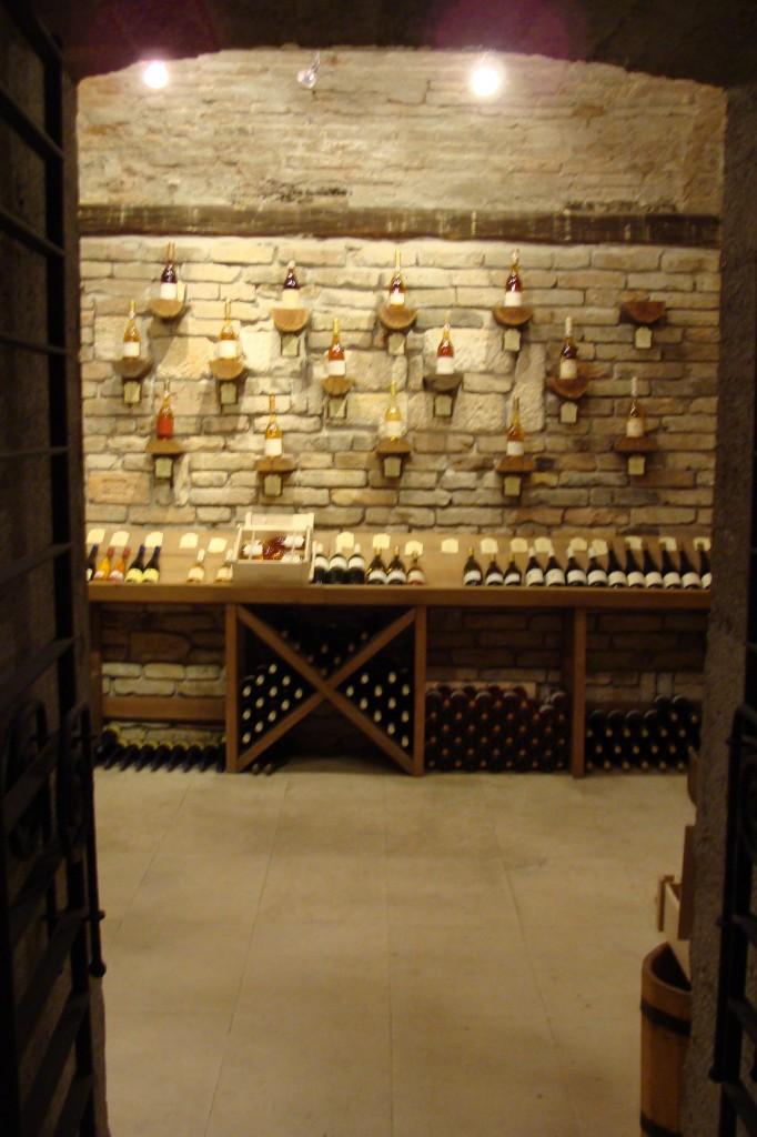 Preshaz wine store inside