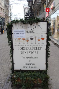 Preshaz wine store in Budapest