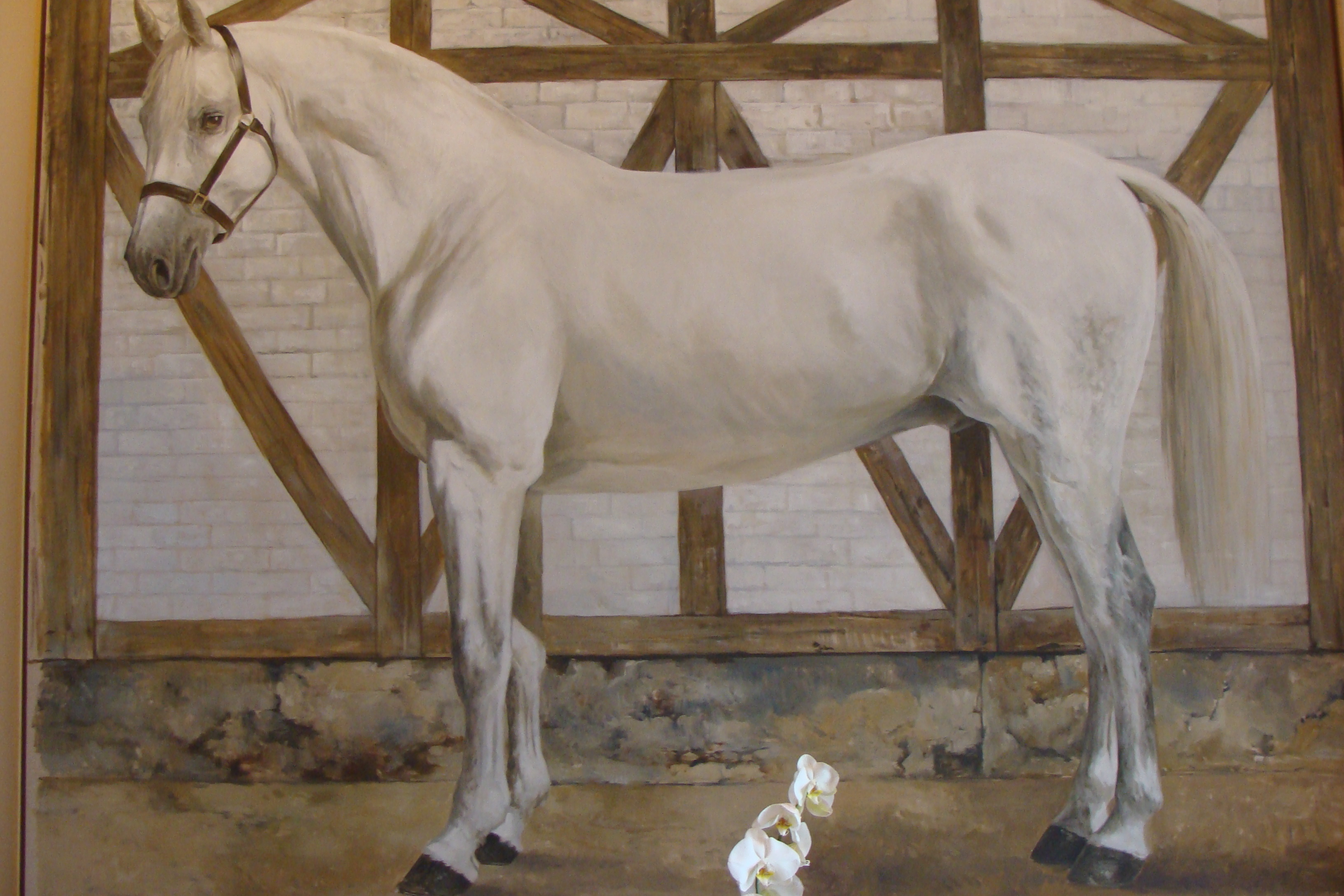 symbol of the Chateau Cheval Blanc - the white horse