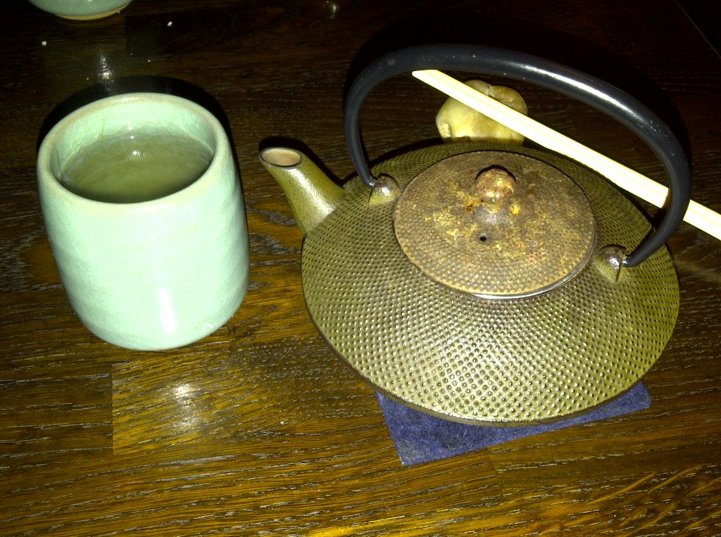 Pot of Japanese tea