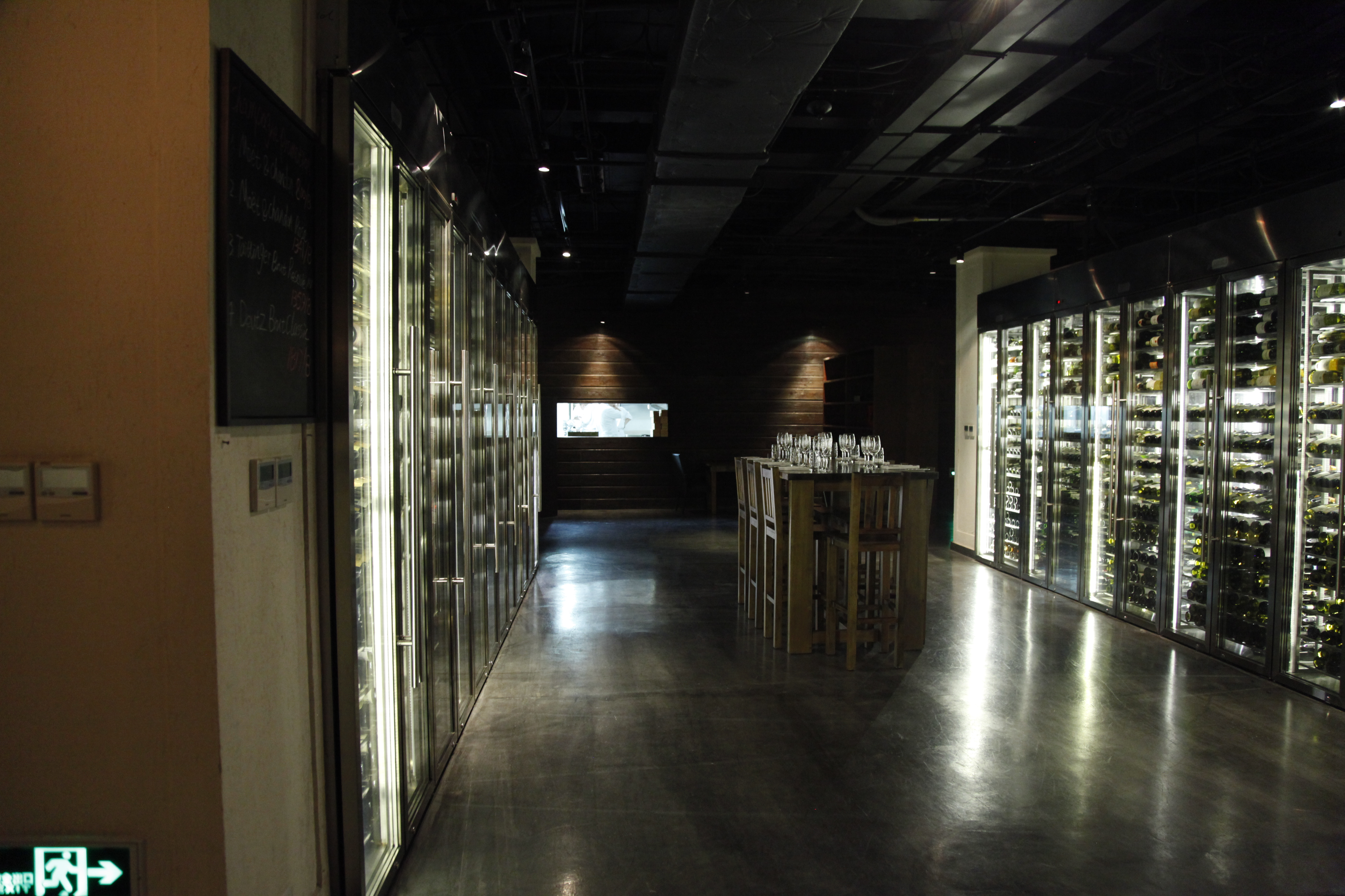 The white wines ready to drink in the chilling cellars
