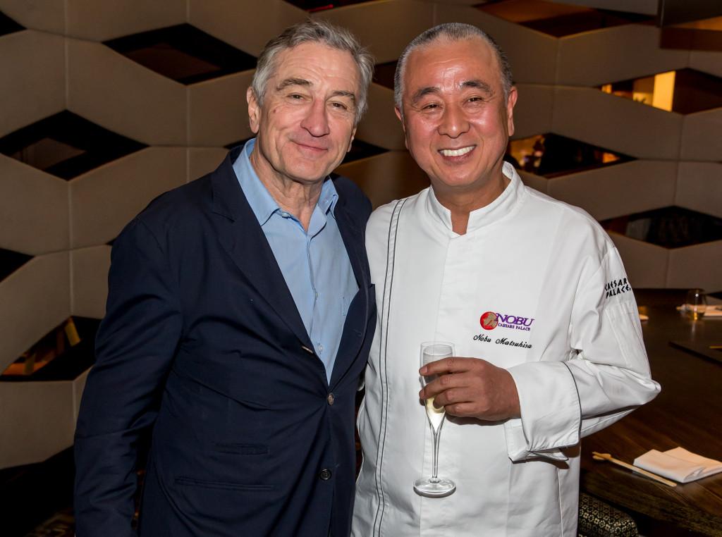 Nobu Matsuhisa and his business partner De Niro
