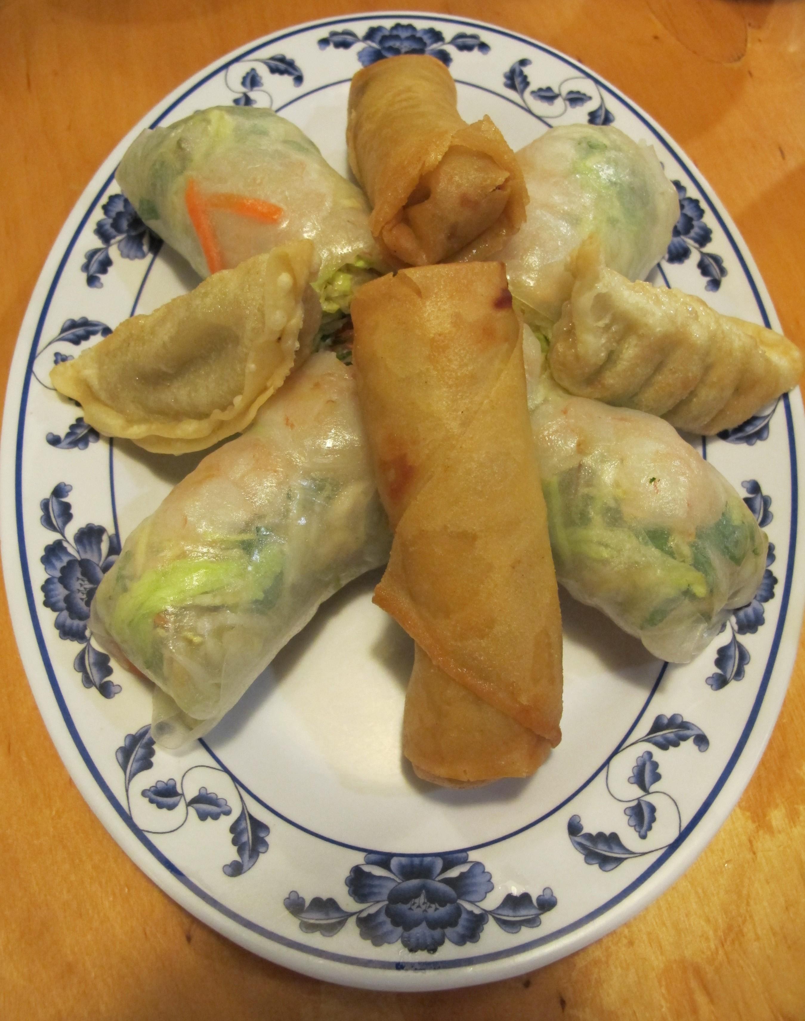 Vietnamese appetizers platter