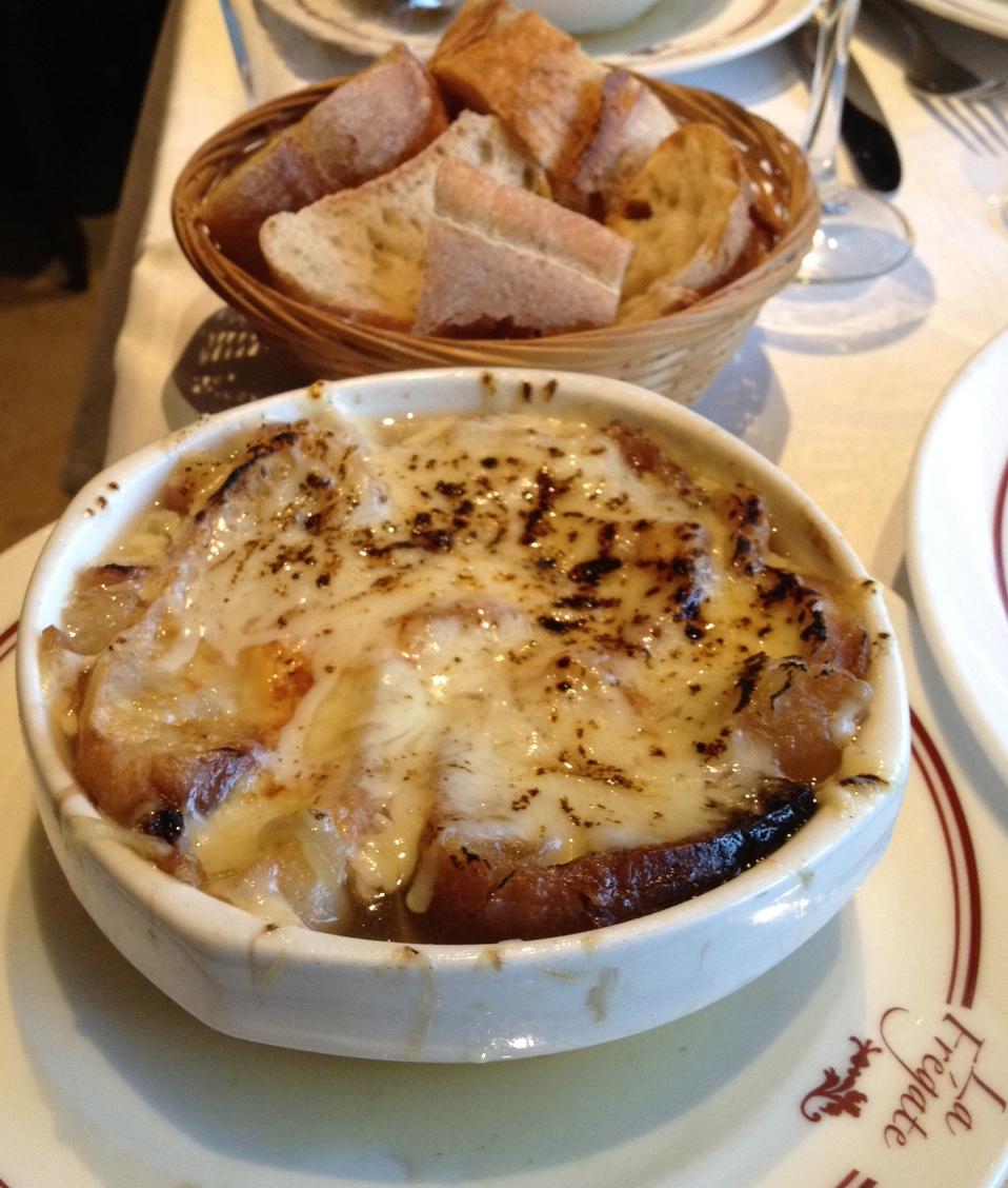 Soupe oignon au gratin