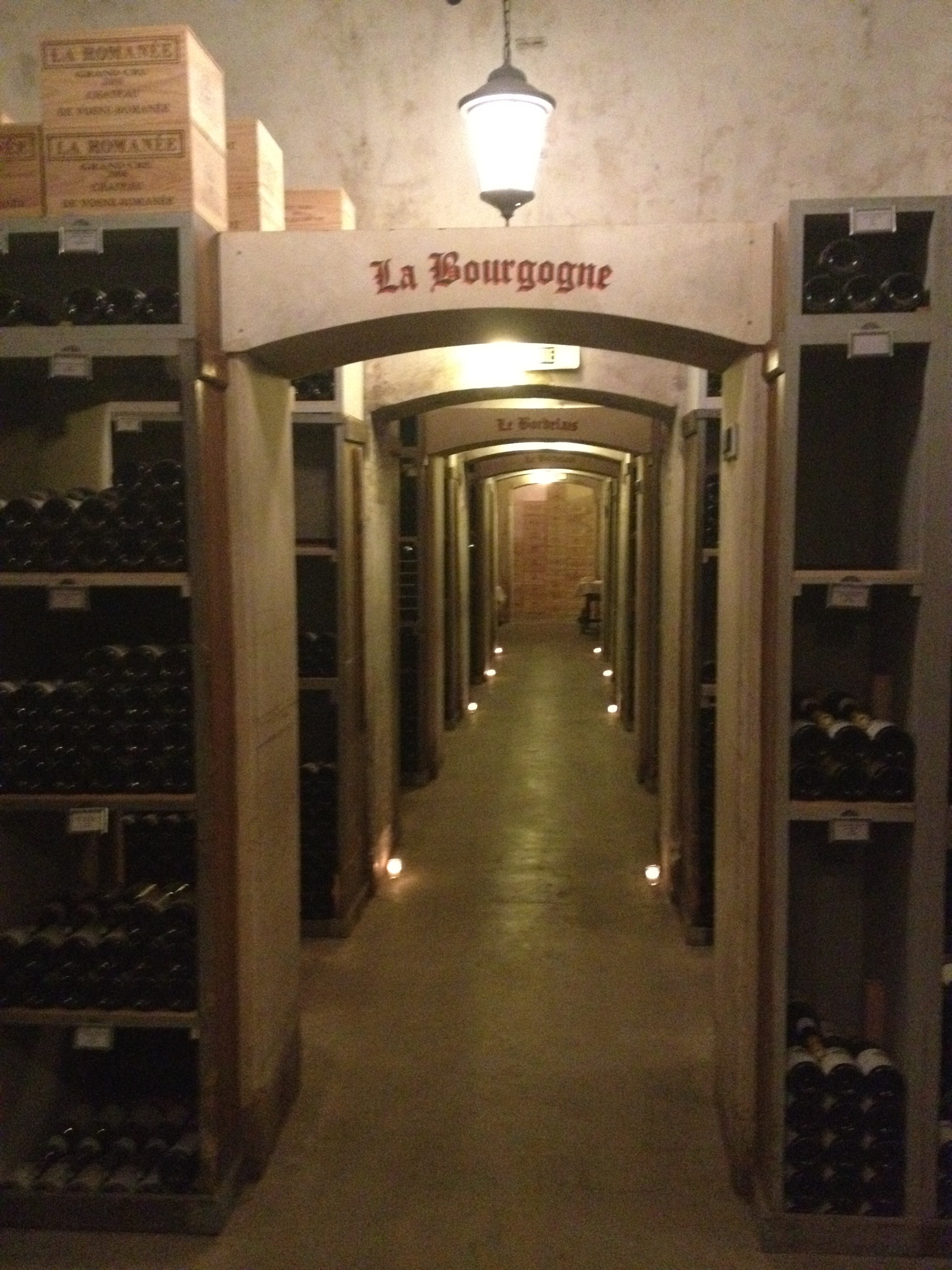The tunnels of the wine cellar