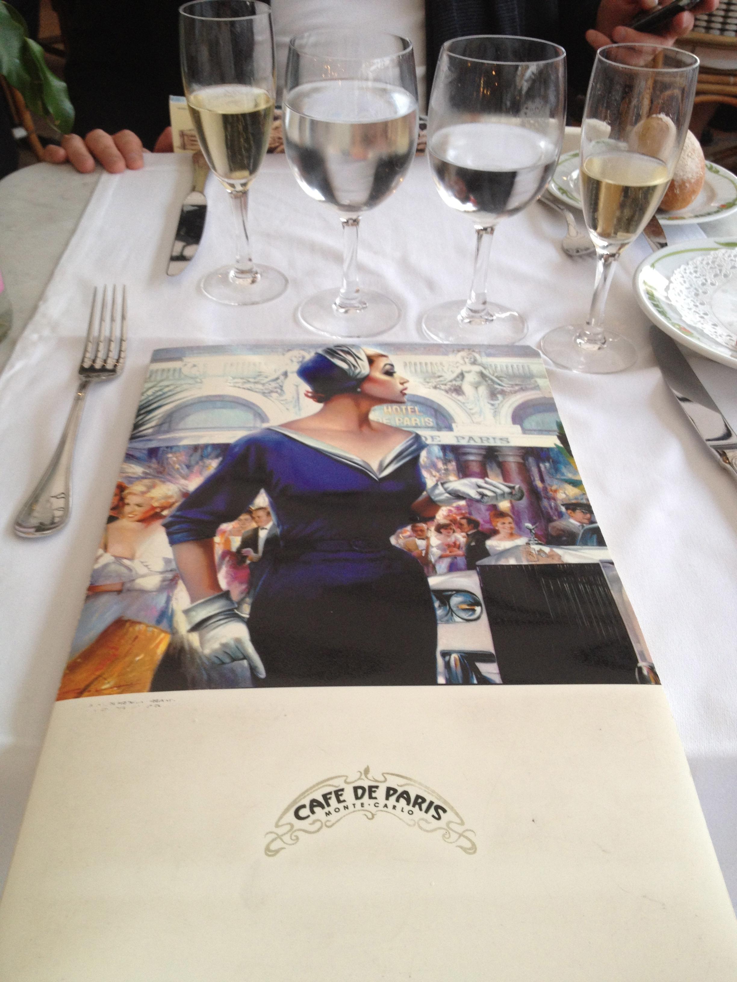 The stylish menu