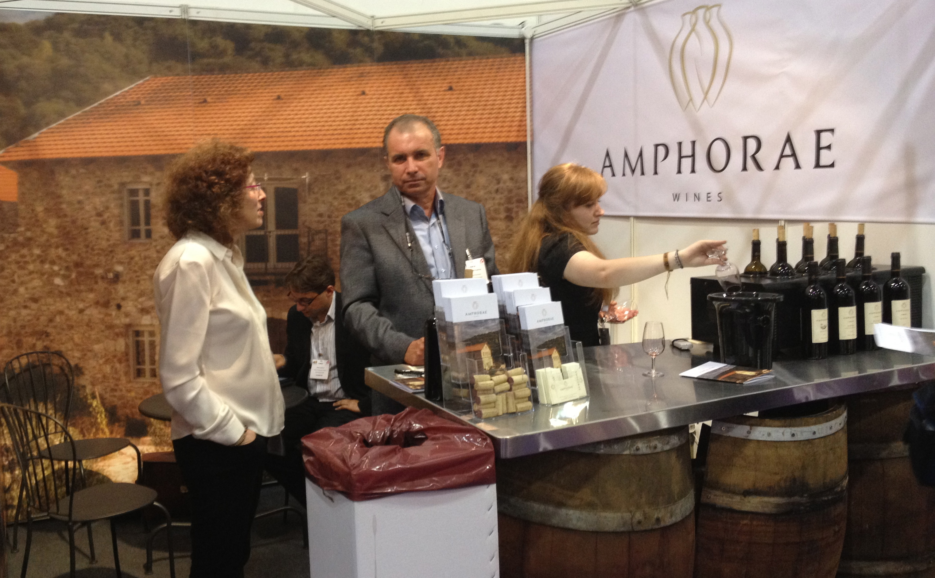 The winemaker of the Amphorae Wines