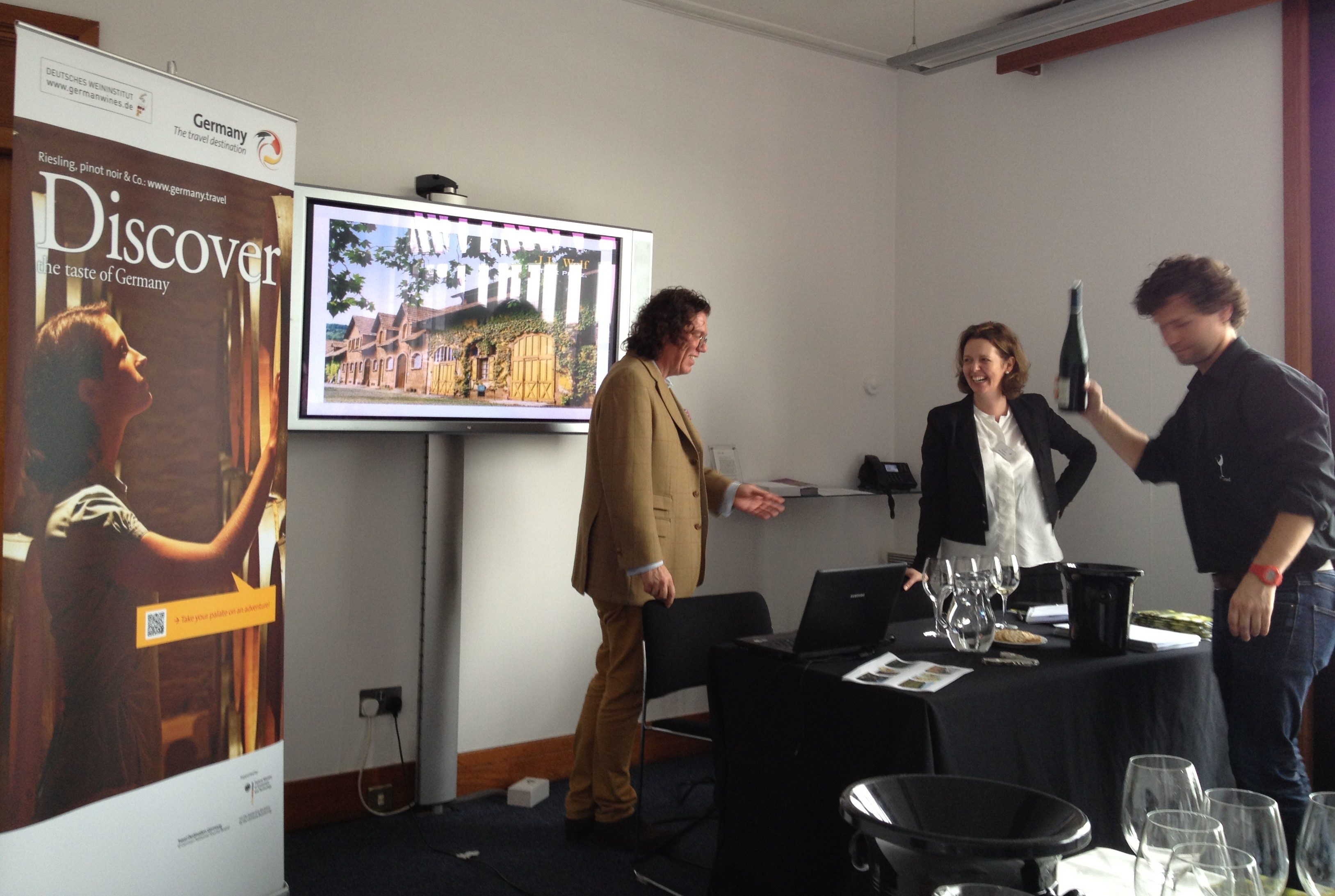 Dr Loosen aka Ernst Loosen giving presentation on German terroir