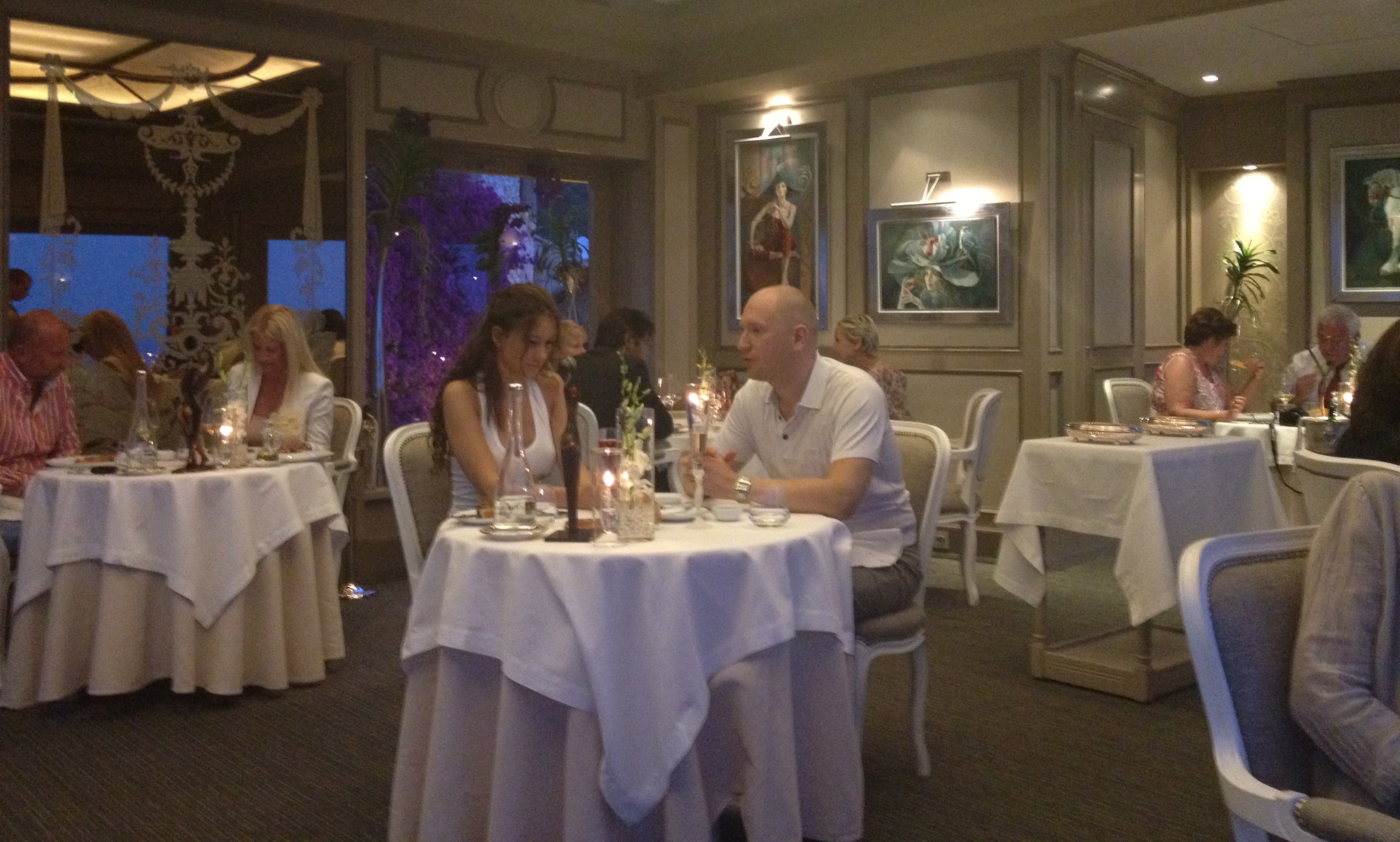 Ambience at Le Chevre d'Or gastronomic restaurant