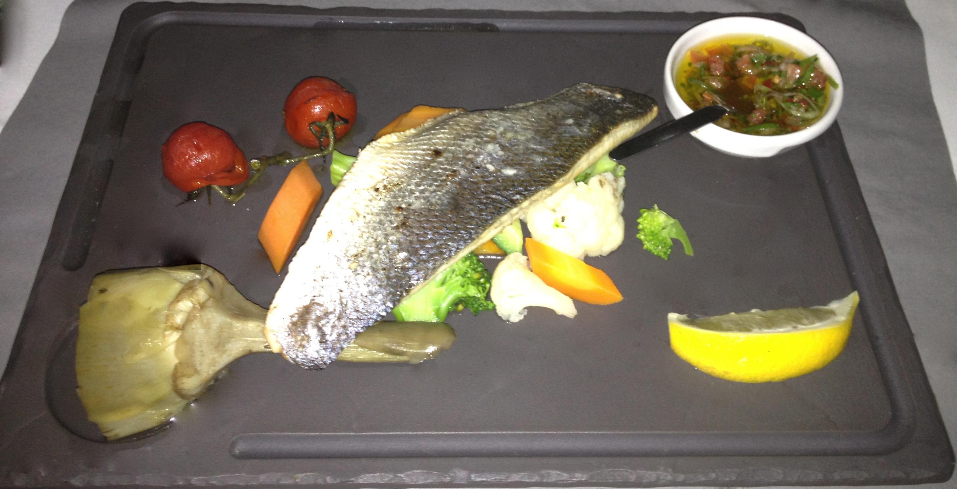 Sea bass with artichoke
