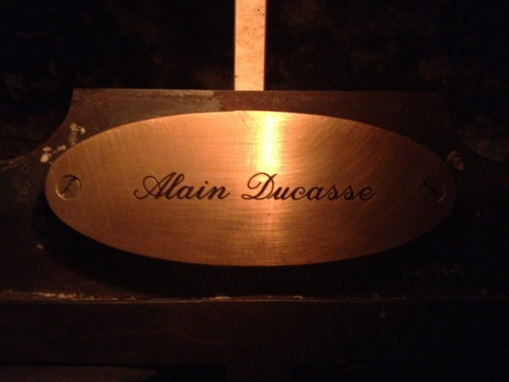The chef Alain Ducasse