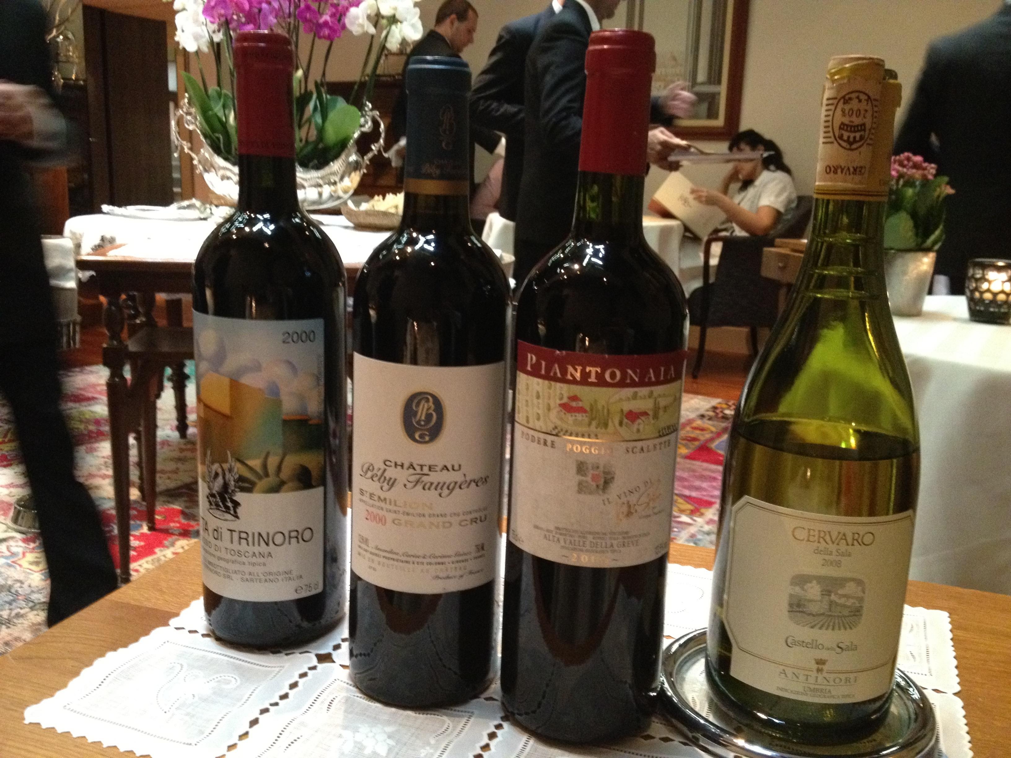 The wines at Enoteca Pinchiori