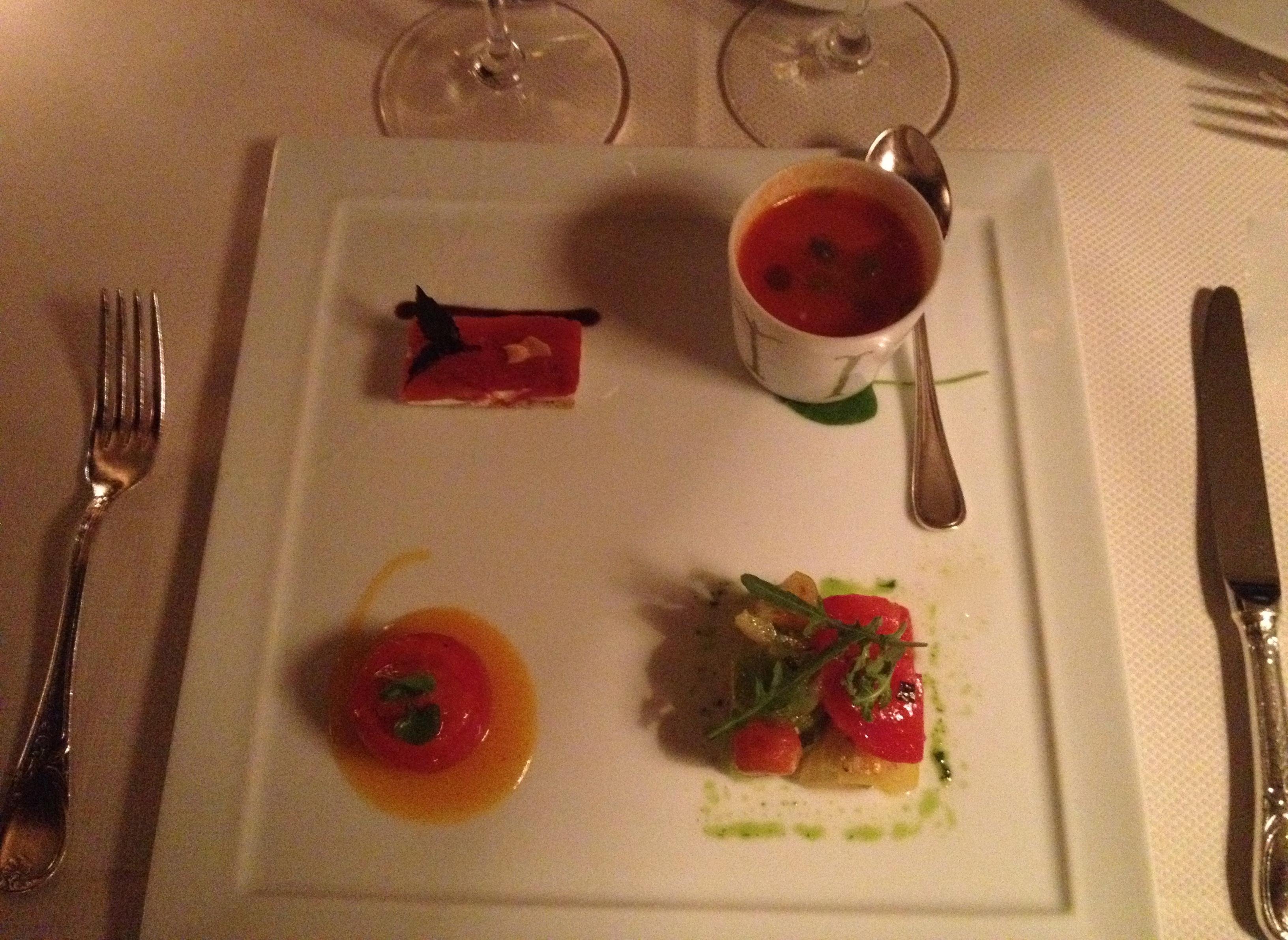 Four tomato variations
