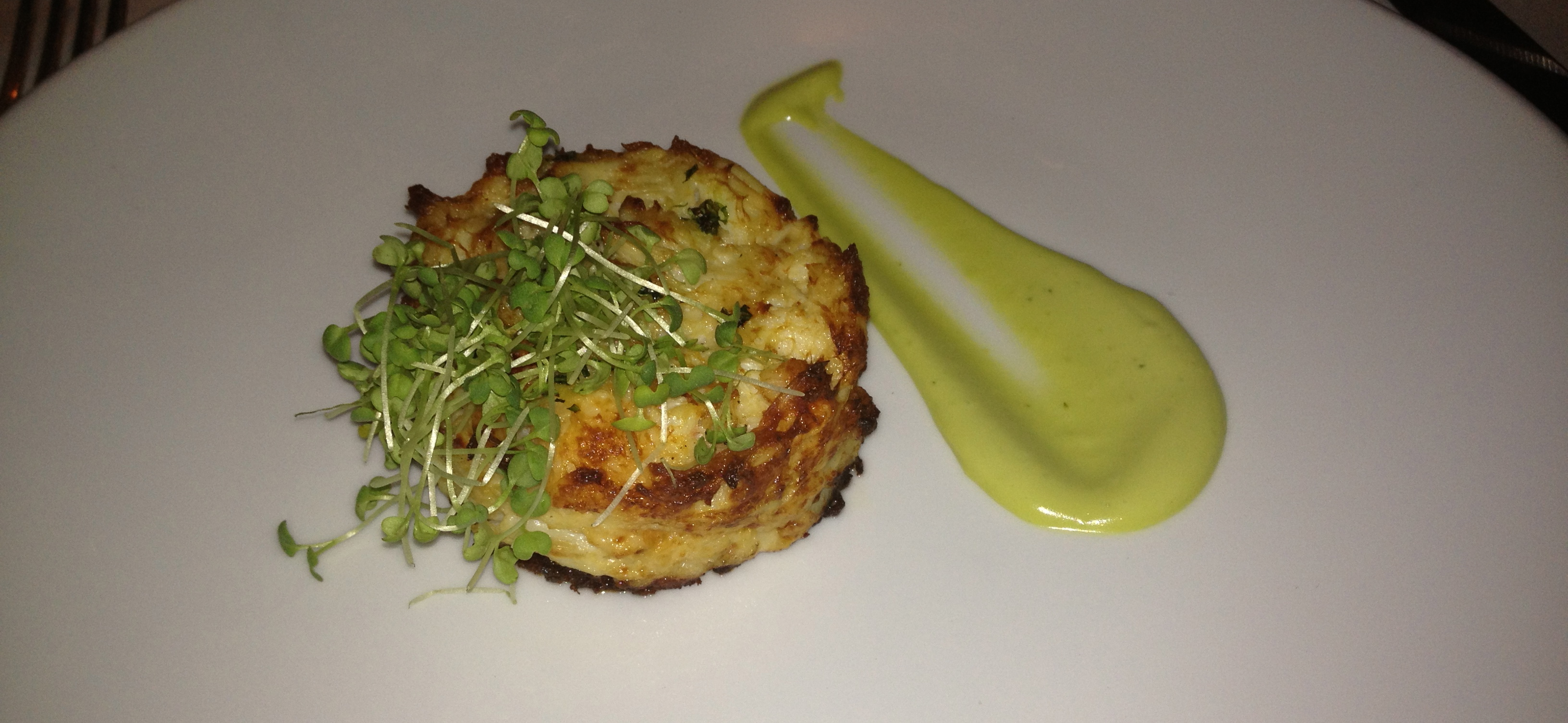 Crab and lobster cake.