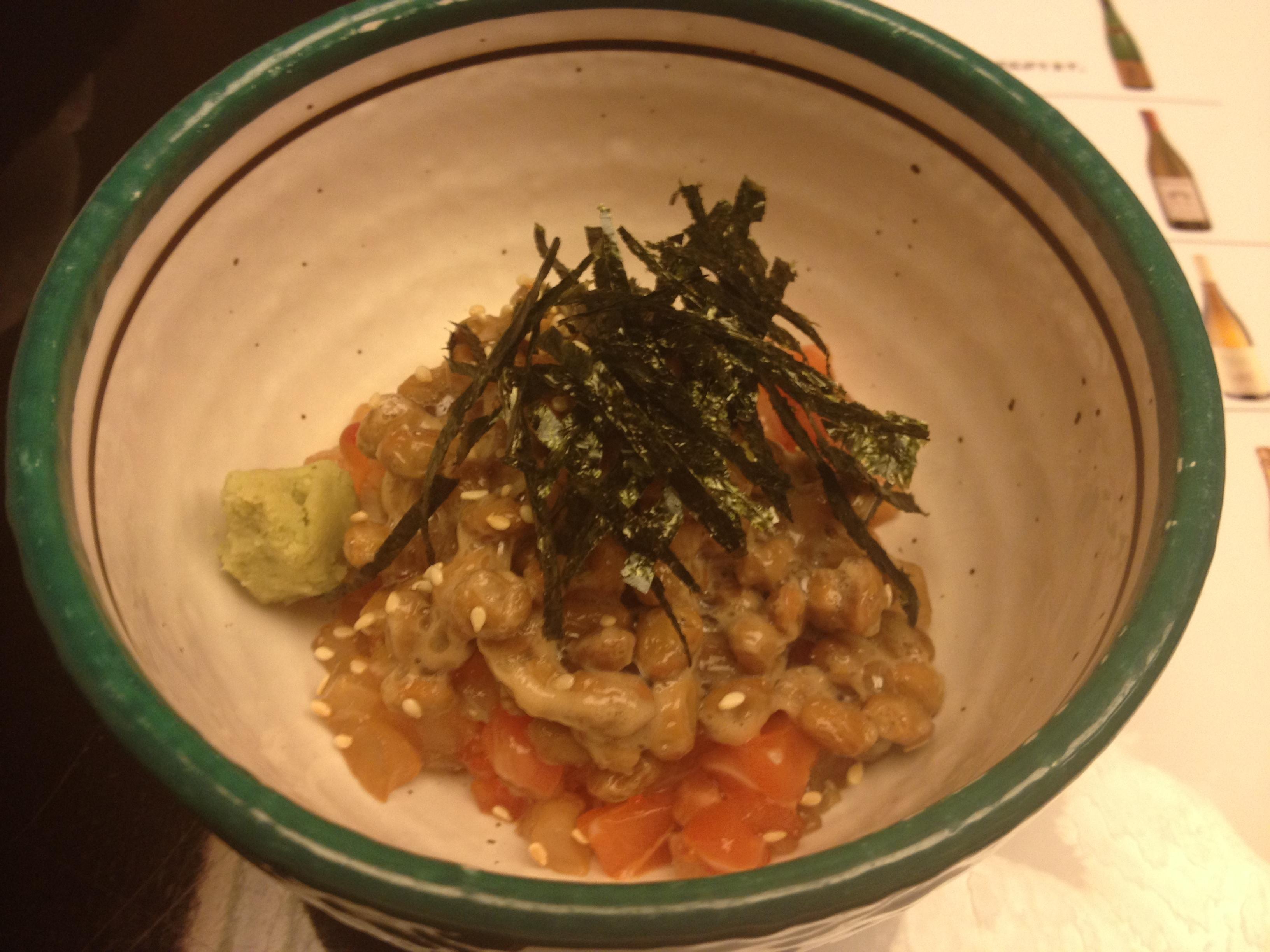 Salmon with smoked tofu sauce