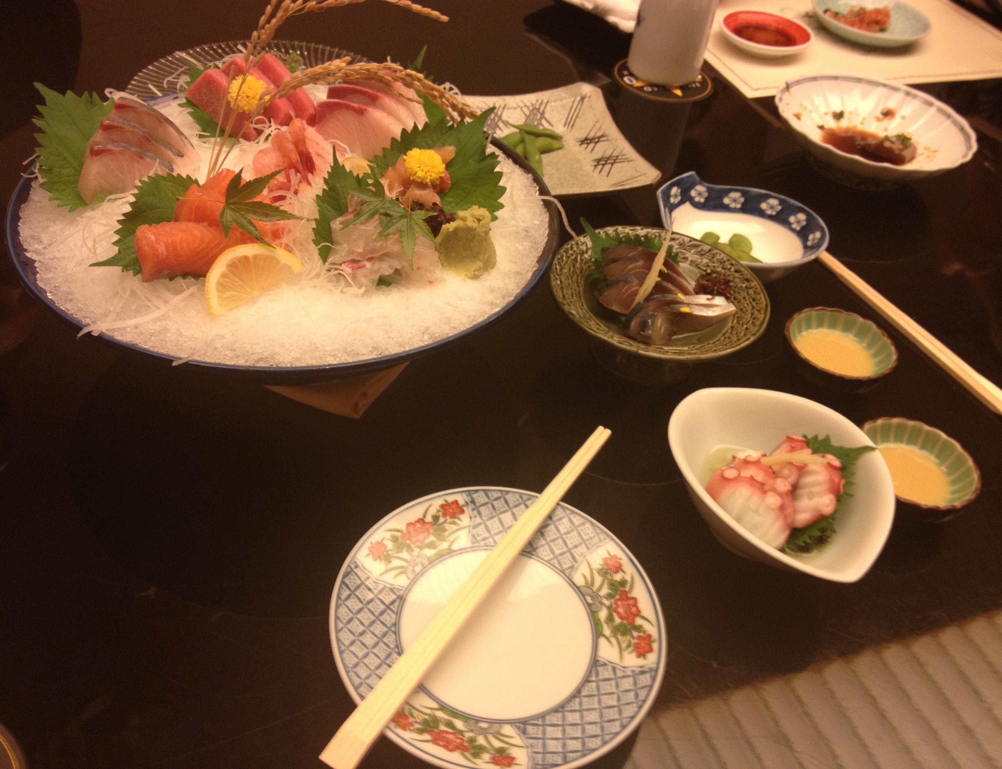Sashimi at HK Japanese Club
