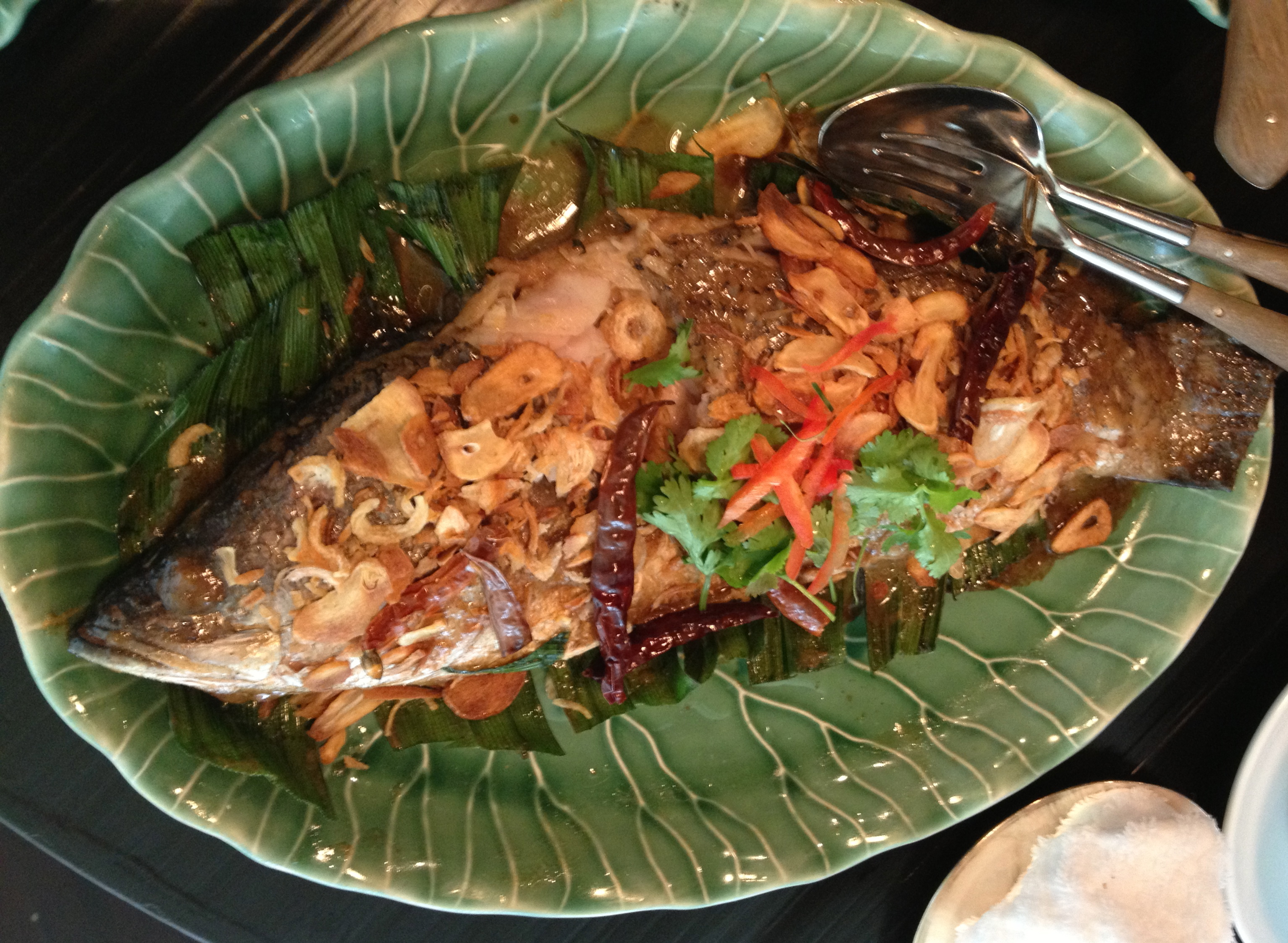 Spicy stir fried fish