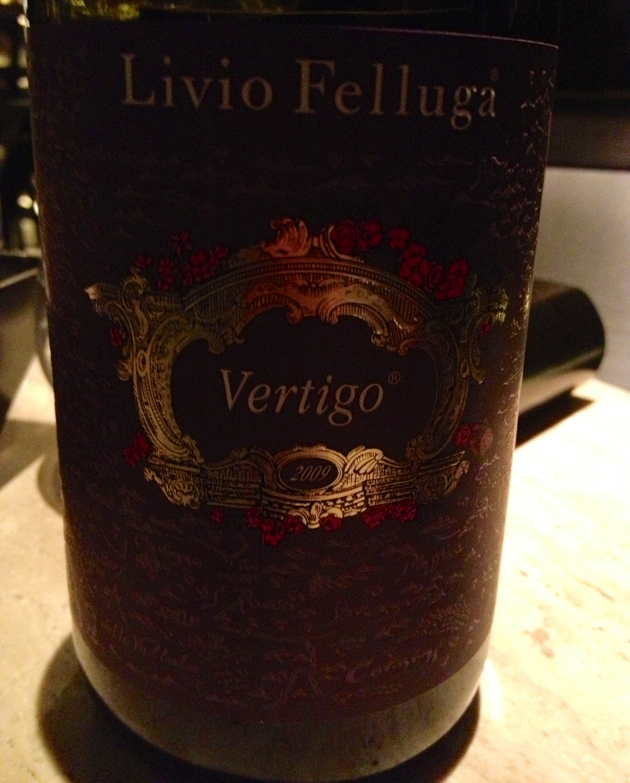 Italian Livio Felluga Vertigo blend of Cabernet Sauvignon and Merlot