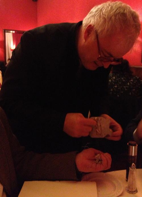 Umberto: the owner of Vintage 1998 shaving truffles for you