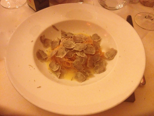 Agnolotti egg pasta with white truffles