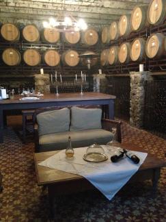 tasting room at Finca Narbona