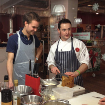 French gourmet dinner: cooking at L'Atelier des Chefs in London