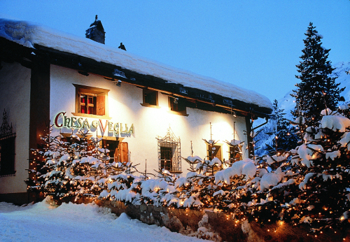 Chesa Veglia covered by snow