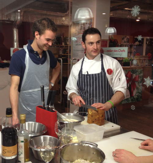 Humorous moments with the chef at L'Atelier des Chefs