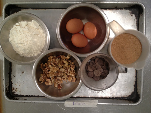 Simple ingredients for Brownies