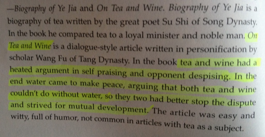 Chinese Tea: A Cultural History and drinking Guide by Liu Tong - quote