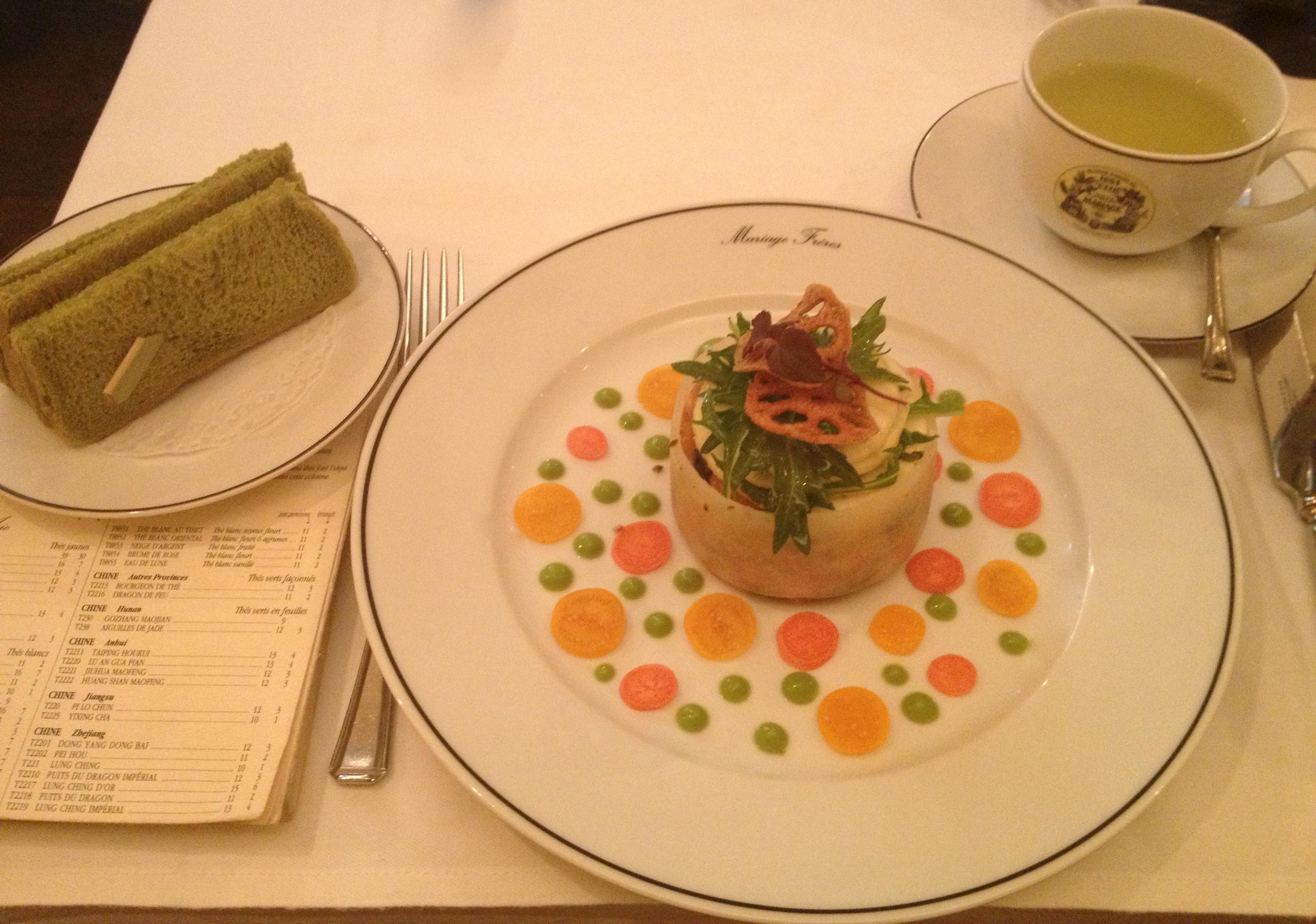 Tea and food pairing at Mariage Freres