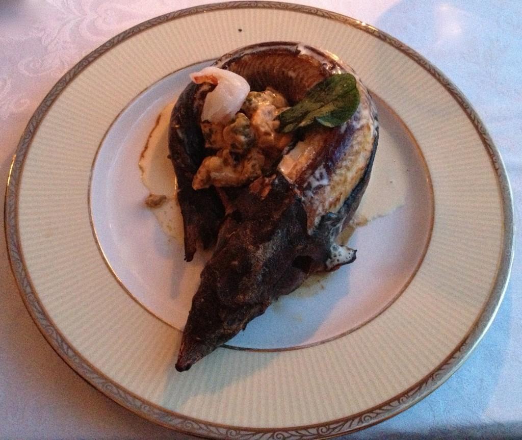 Smoked sturgeon fish