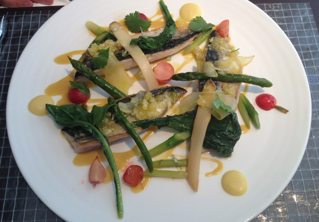 Pan fried fish of the day with vegetables