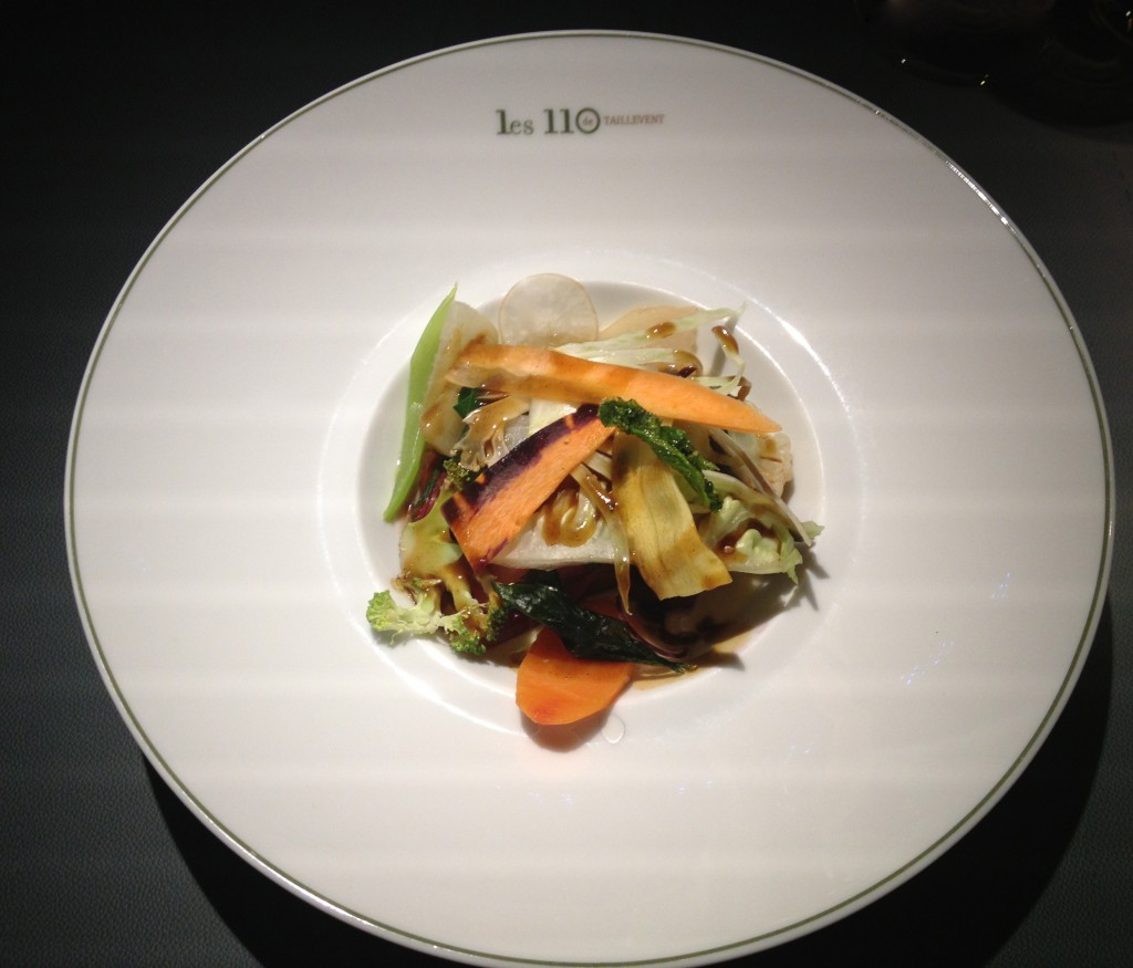 Vegetable starter at 110 Taillevent