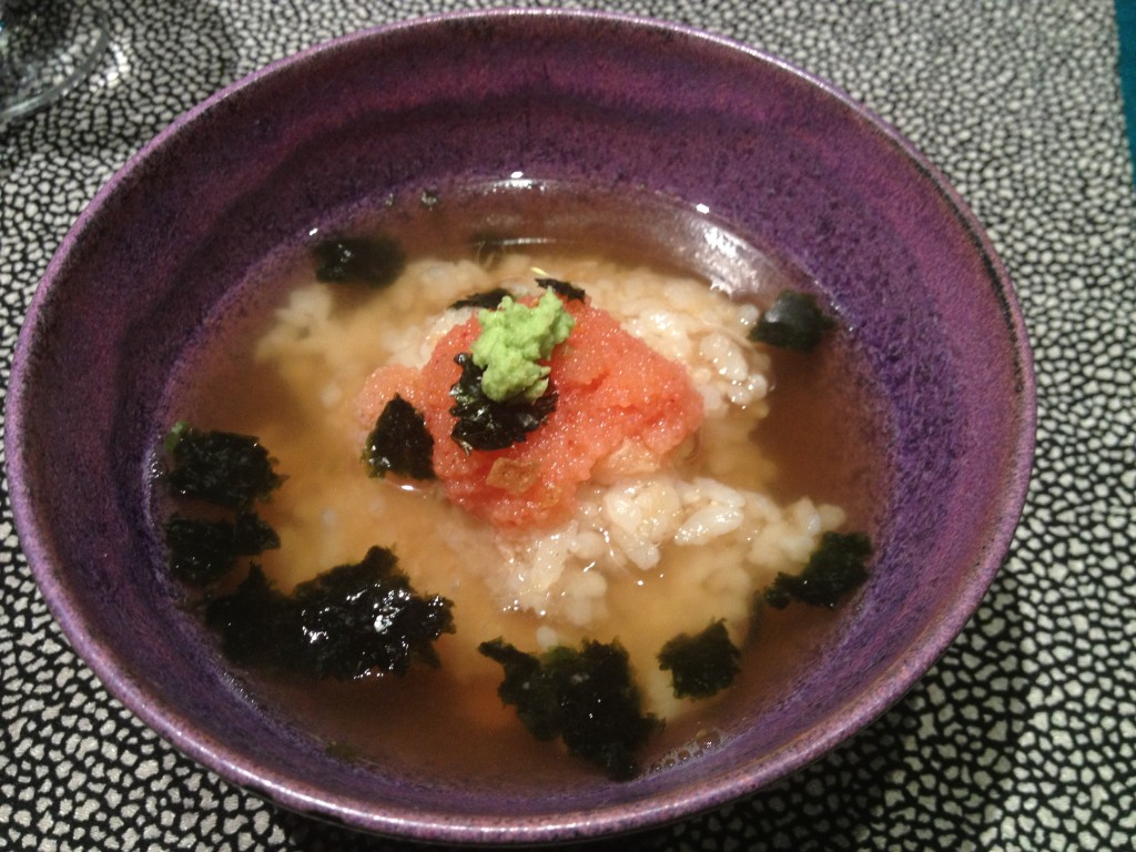 Miso soup at Guilo Guilo