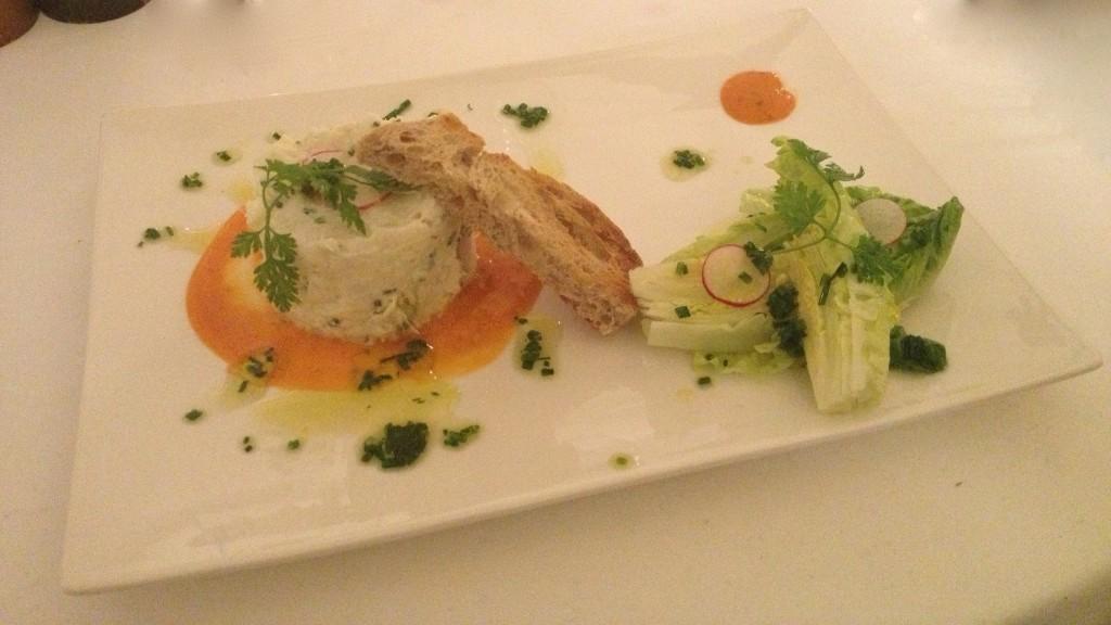 Tartare d'espadon:Fish hors d'oeuvre