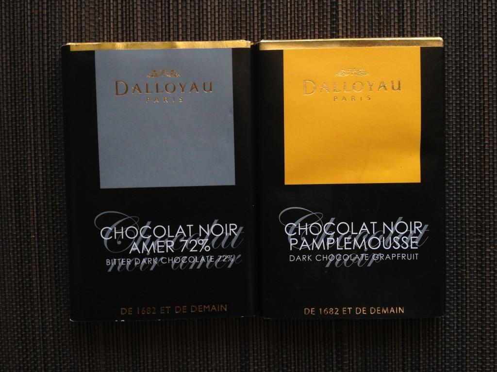 Dalloyau chocolate bars
