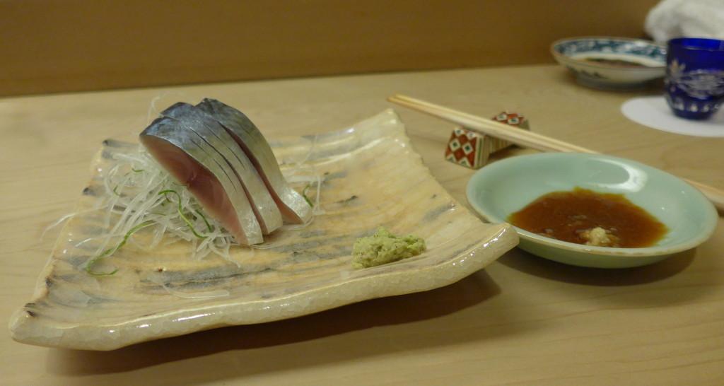 Spanish mackerel sashimi at Ginza Sushi Aoki