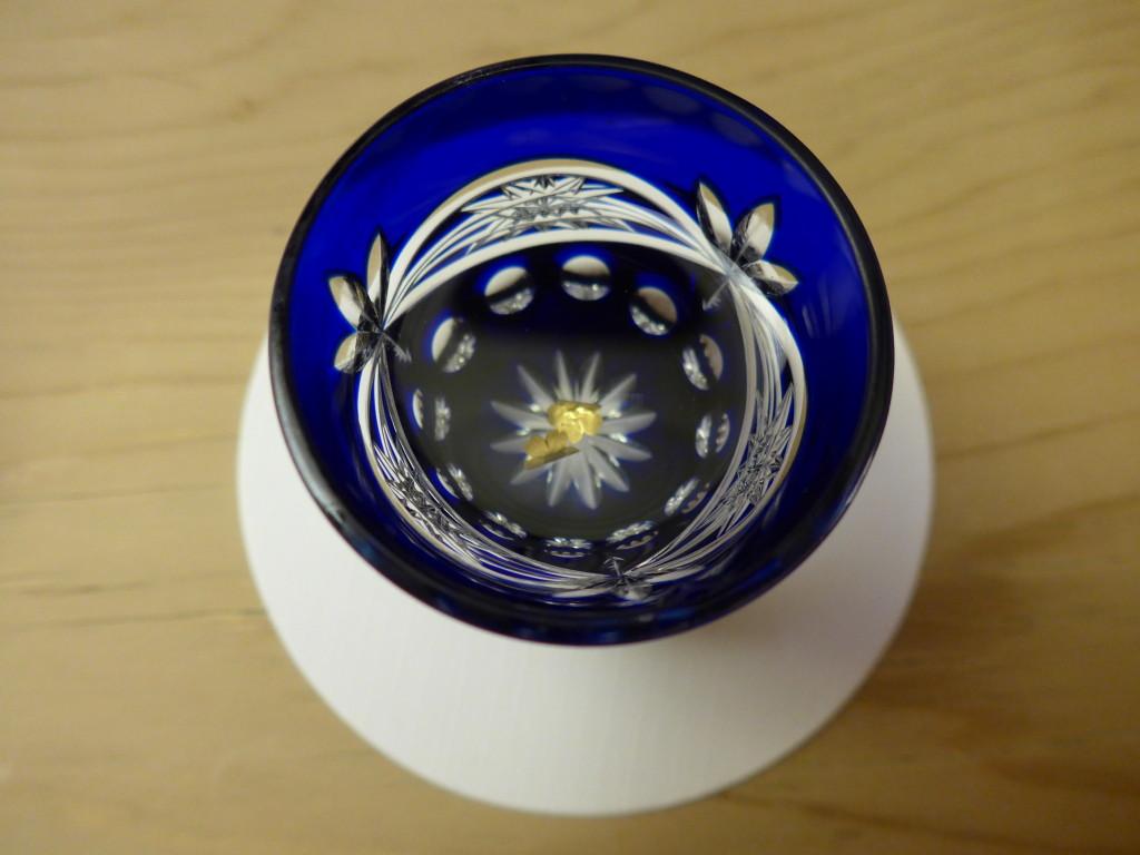 Sake with gold leaf