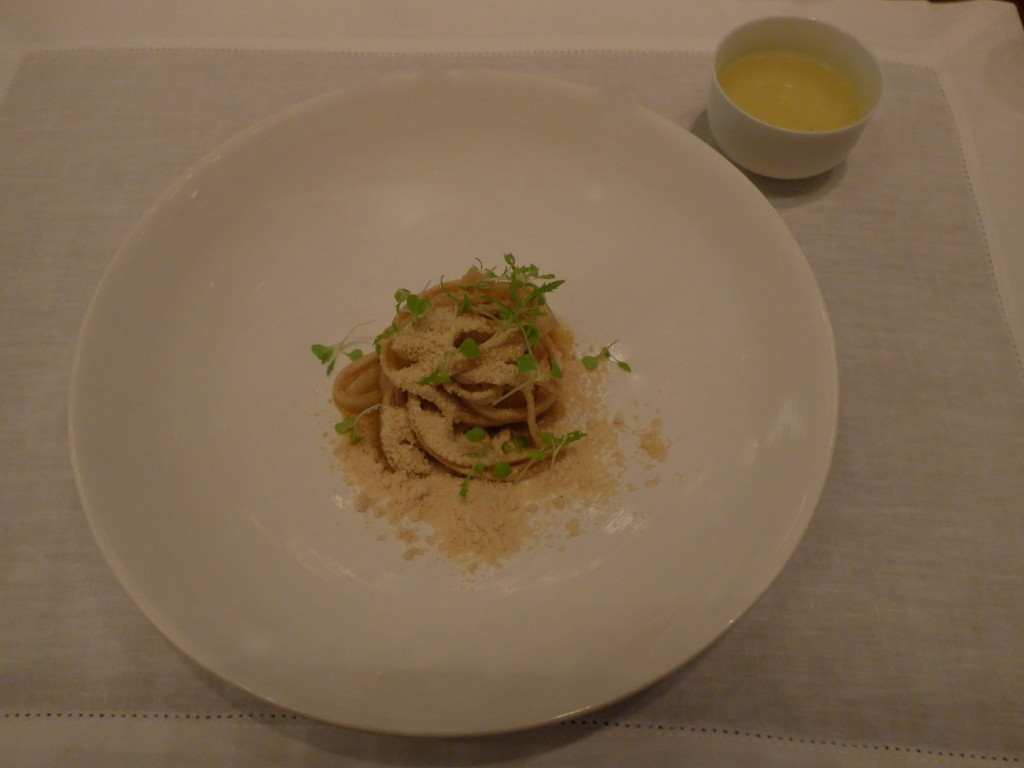 Palmheart fettuccine with mushrooms at DOM