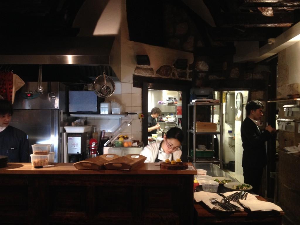 Open kitchen at Sola