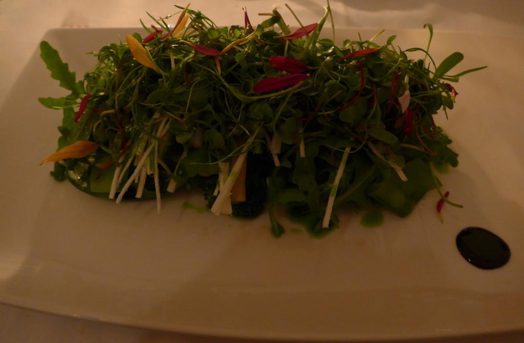 Creatove salad at Maní