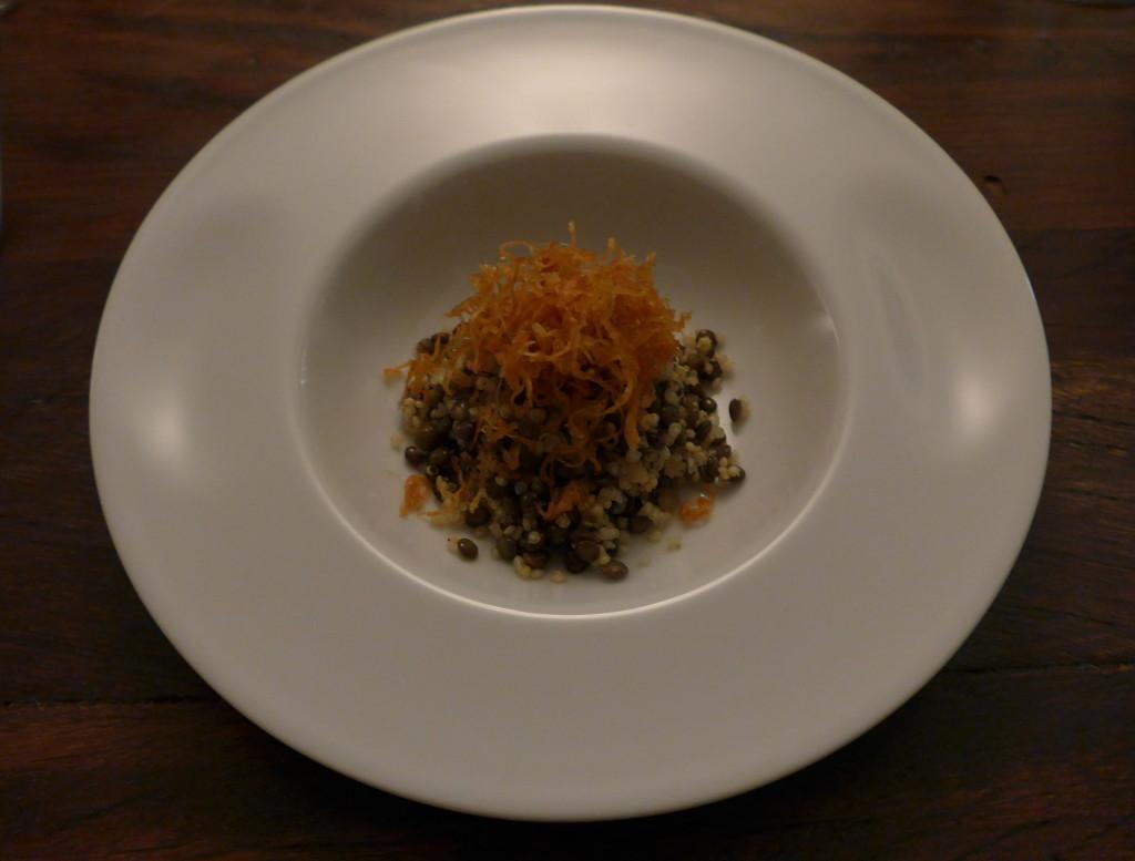 Quinoa and lentils