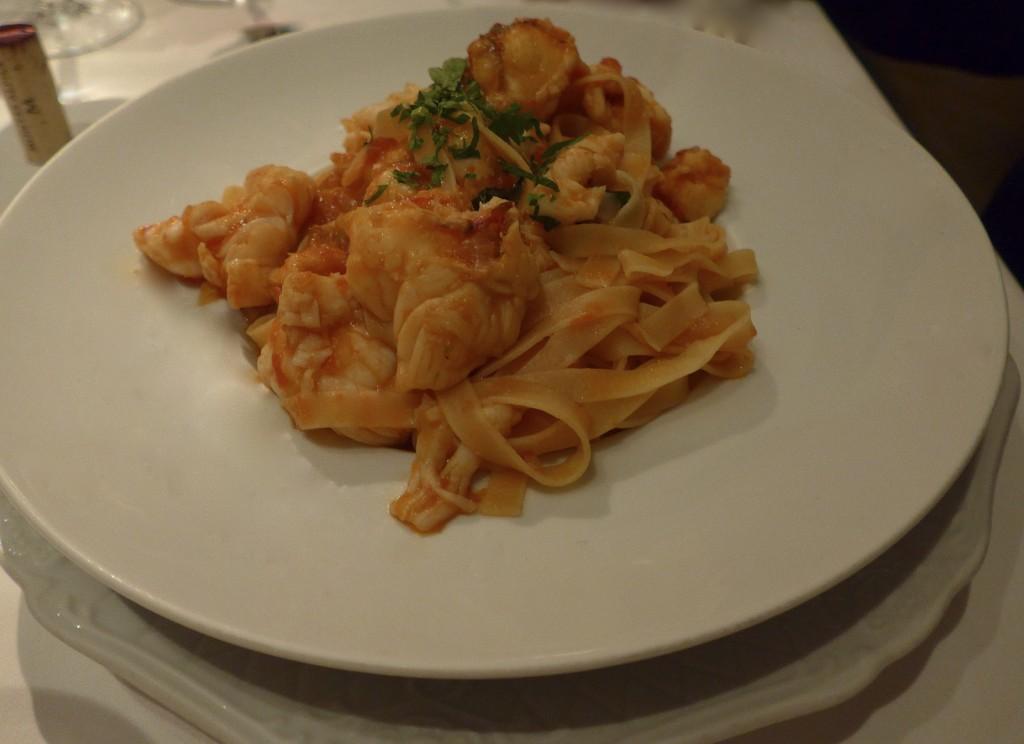 Linguini pasta with fish
