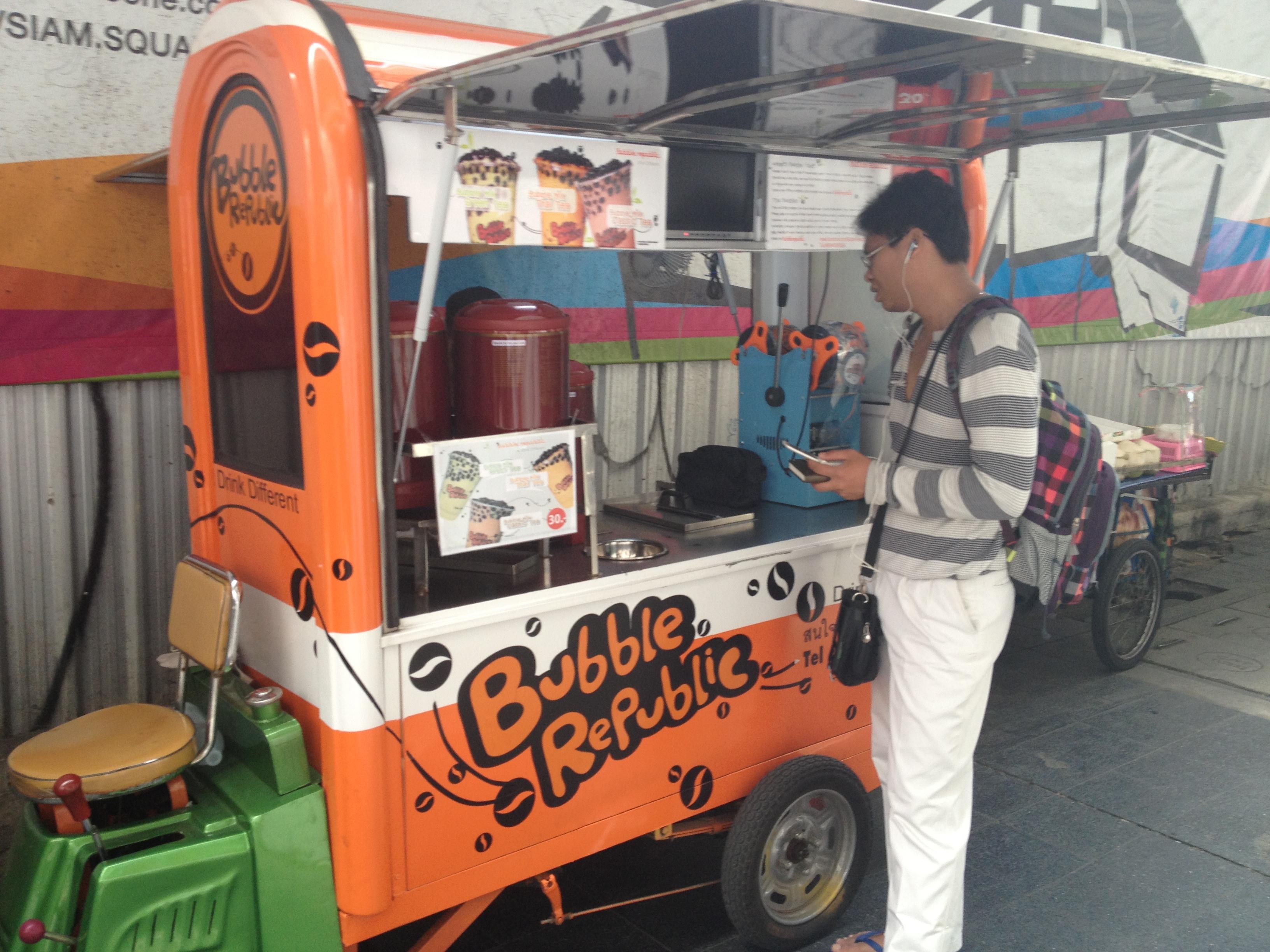 Bubble Republic street vending car in Bangkok