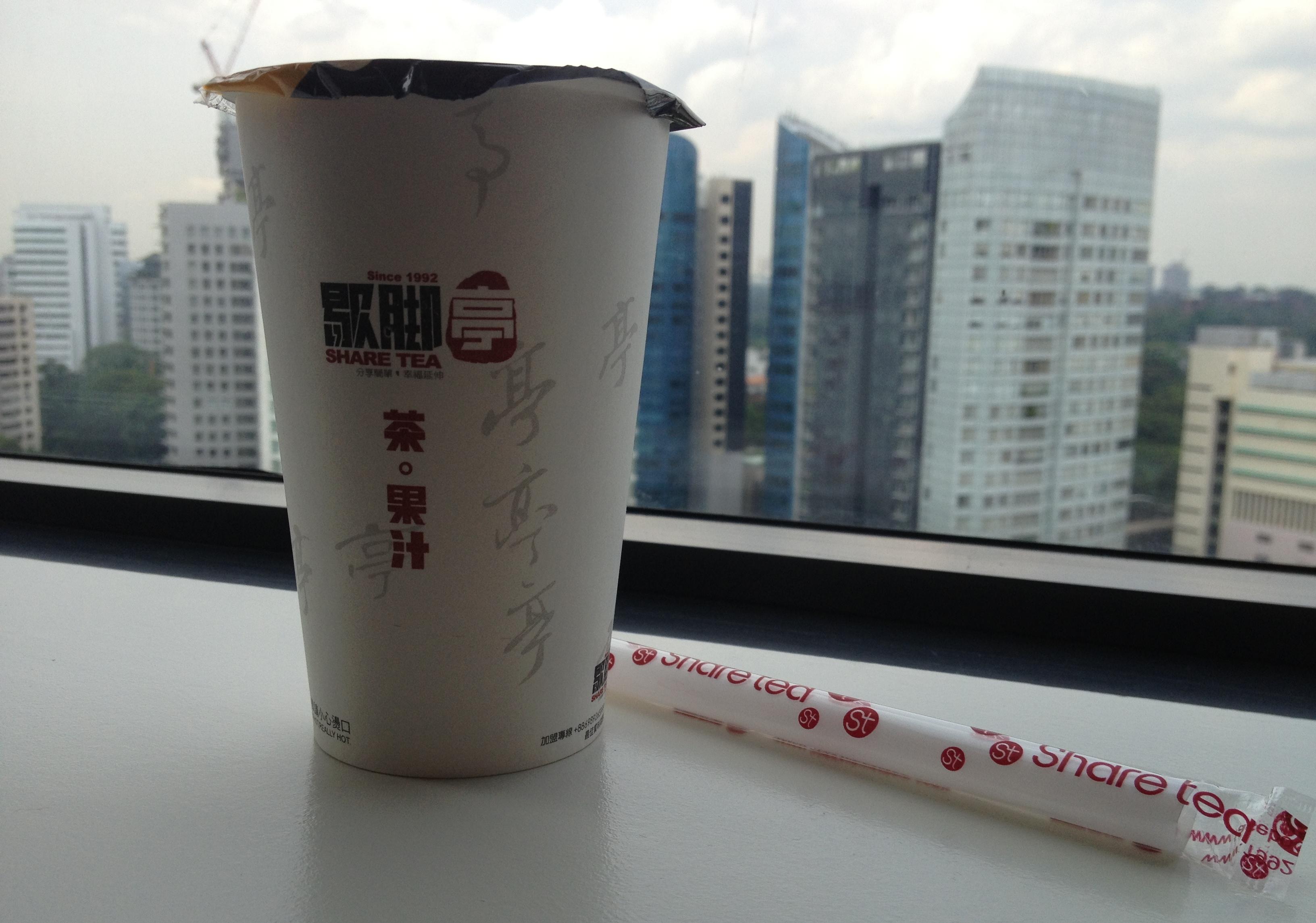 Warm bubble tea by Share Tea