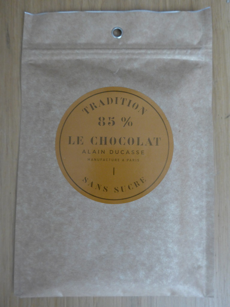 Alain Ducasse chocolate 85% sugar-free