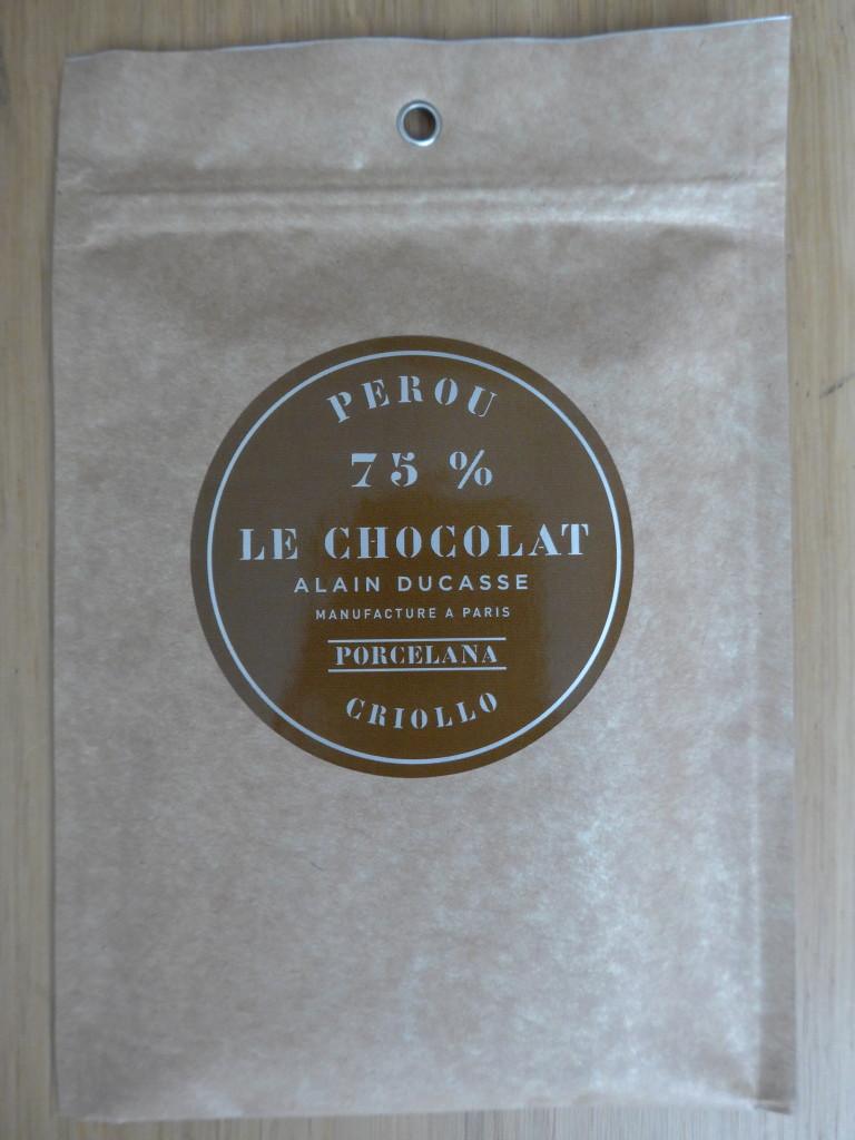 Alain Ducasse chocolate 75% Peru Criolo Porcelana
