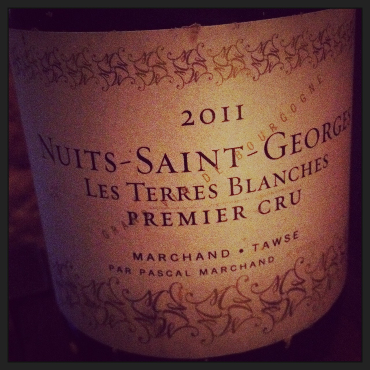 Nuits-Saint-Georges Les Terres Blanches 2011 by Marchand Tawse