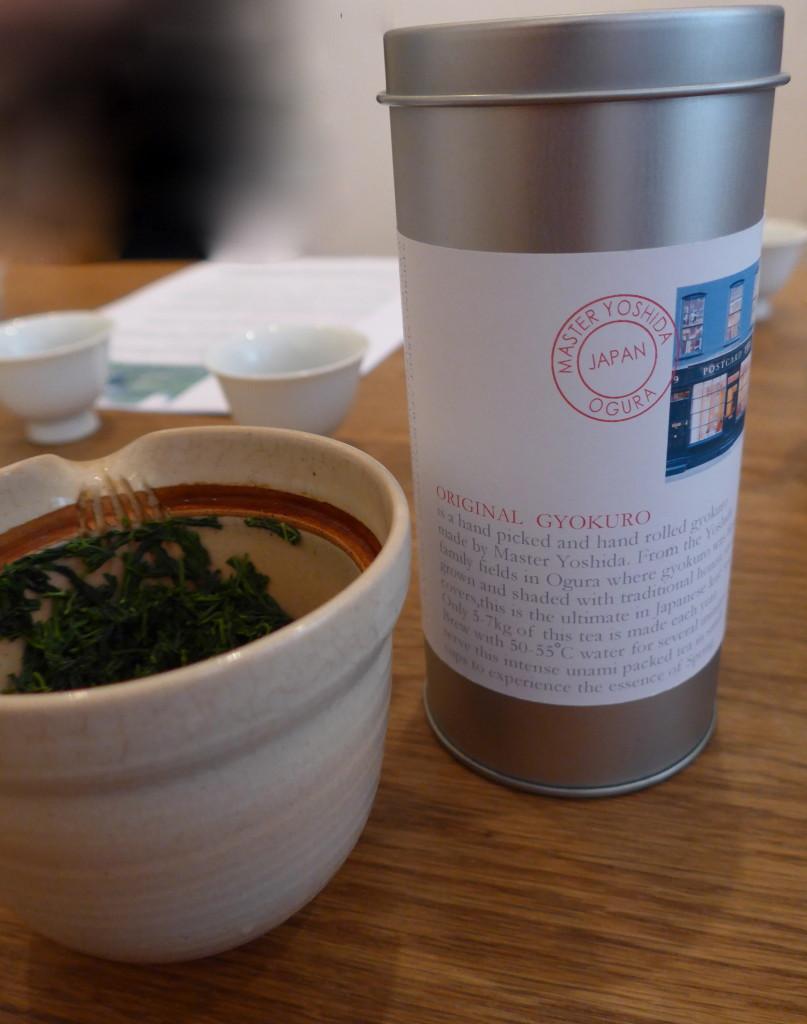 Descriptive Gyokuro Tea tin at Postcard teas